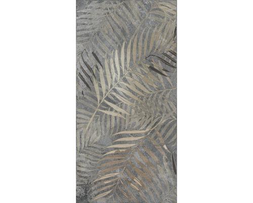 Feinsteinzeug Wand-Dekor-Fliese Golden Fern 60 x 120 cm rek.