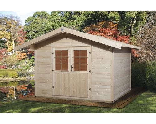 Gartenhaus Weka Lesina Mit Fussboden 301 X 295 Cm Natur Bei Hornbach Kaufen