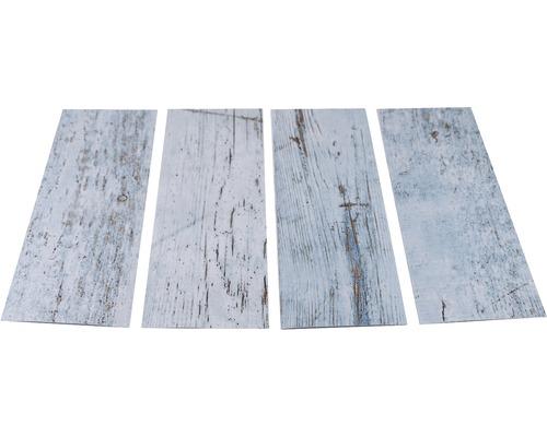 Antirutschsticker mySPOTTI stepon Wood Light Blue Set mit 4 Streifen à 30 x 10 cm