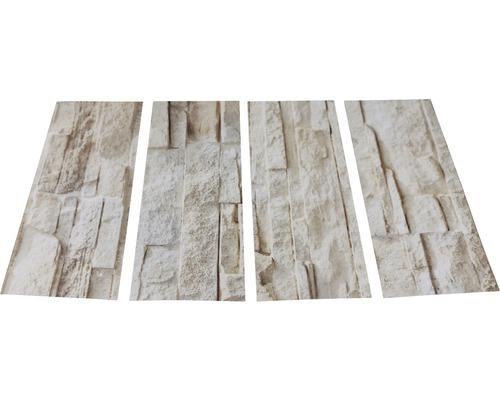 Antirutschsticker mySPOTTI stepon Bruchsteinwand Set mit 4 Streifen à 30 x 10 cm