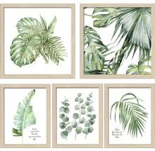 Gerahmtes Bild Green Plant Collage 5-er Set