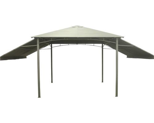 Pavillon mit klappbaren Seitenteilen 3x3 m Polyester anthrazit