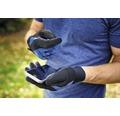 Gartenhandschuhe for_q grip 1 Paar gr. M, blau - schwarz