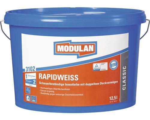 MODULAN Rapidweiß 3102 Wandfarbe weiß 12,5 l