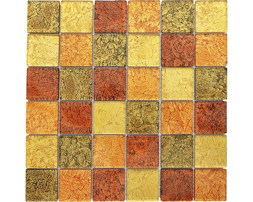 Glasmosaik CM 4AL24 30x30 cm mix braun/gold/orange