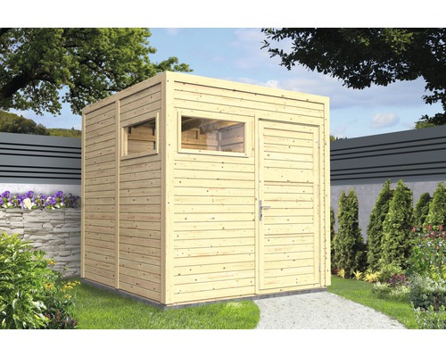 Gartenhaus Cubo 2 mit Fußboden 226 x 234 cm natur