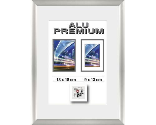 Bilderrahmen Alu Duo silber 13x18 cm