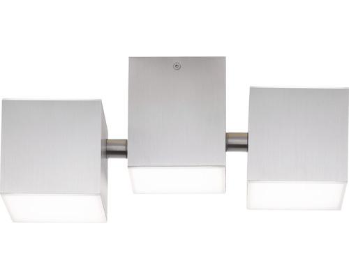 AEG LED Deckenleuchte IP20 5x3W 300 L 3000 K warmweiß HxBxL 120x276x127 mm Gillan alu gebürstet Seitenelemente schwenkbar Lichtauslass rechts + links nach oben + unten
