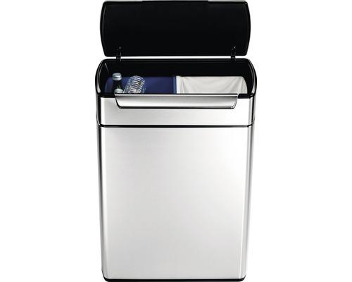 Mülleimer Rectangular Touch-Bar Bin 2x24 Liter