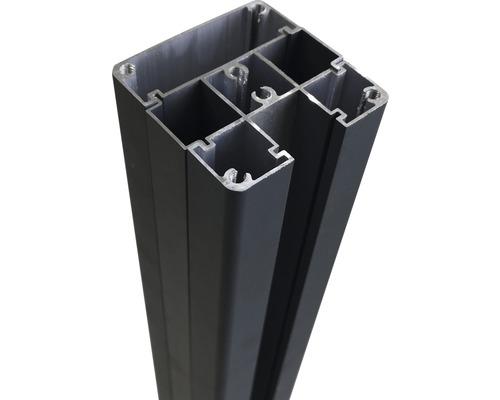 Alupfosten für Steckzaun 7x7x190cm anthrazit