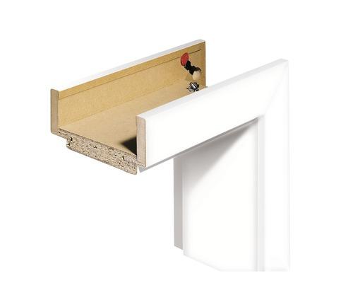Komplettzarge Pertura CPL Design weiß (ähnlich RAL 9003) 198,5x86,0x12,0 cm DIN Links