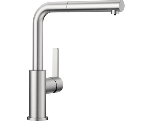 Küchenarmatur BLANCO Lanora-S Niederdruck edelstahl gebürstet 525126