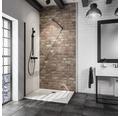 Walk In Duschwand Loft Schulte Alexa Style 2.0 Black Style Breite 120 cm Klarglas Profilfarbe schwarz