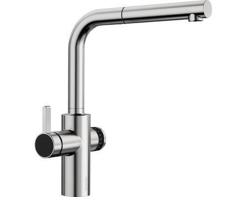 Küchenarmatur BLANCO EVOL-S Volume Hebel-Linkts-Funktion edelstahl finish 525213