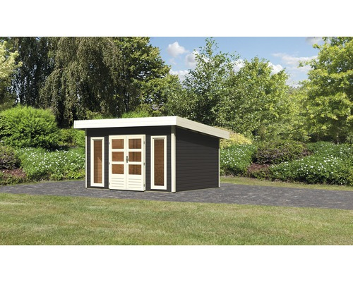 Gartenhaus Karibu Speyer 4 369 x 309 cm terragrau