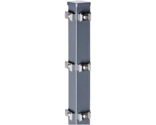 Eck-Zaunpfosten Typ QPME für Doppelstabmatte 6 x 6 x 170 cm, anthrazit