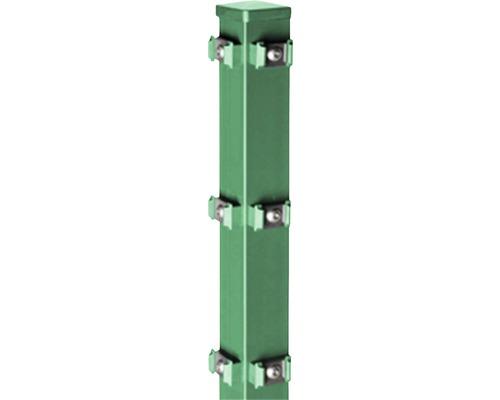 Eck-Zaunpfosten Typ QPME für Doppelstabmatte 6 x 6 x 150 cm, grün