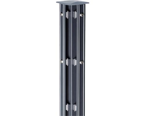Eck-Zaunpfosten Typ P-fix für Doppelstabmatte 6 x 6 x 150 cm, anthrazit
