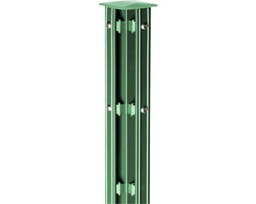 Eck-Zaunpfosten Typ P-fix für Doppelstabmatte 6 x 6 x 130 cm, grün