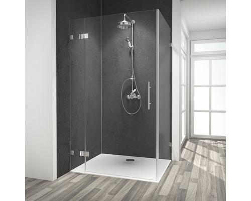 Duschtür mit Seitenwand Schulte Davita Klarglas inkl. Aufmaß, Anlieferung, Montage und Schmutzabweisender Glasbeschichtung