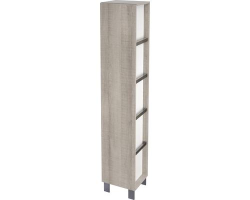 Hochschrank City Eiche grau/weiß H:180 cm vormontiert