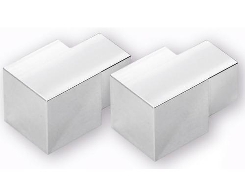 Eckstück Dural Squareline Aluminium Grau 11 mm