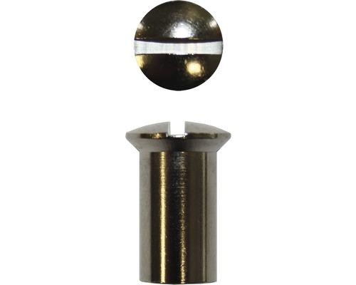 Hülsenmutter 4 mm Messing vernickelt, 4 Stück