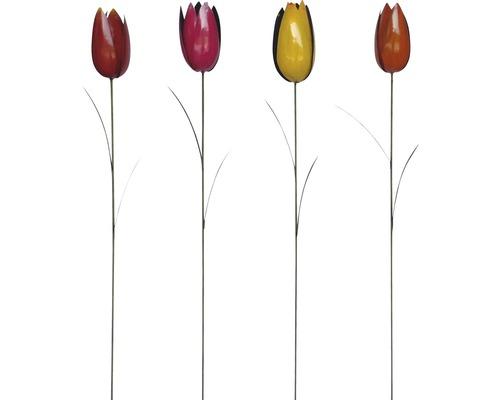 Gartenstecker Tulpe Metall H 115 cm zufällige Farbauswahl
