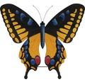 Gartenfigur Schmetterling Metall H 147 cm gelb-schwarz-blau
