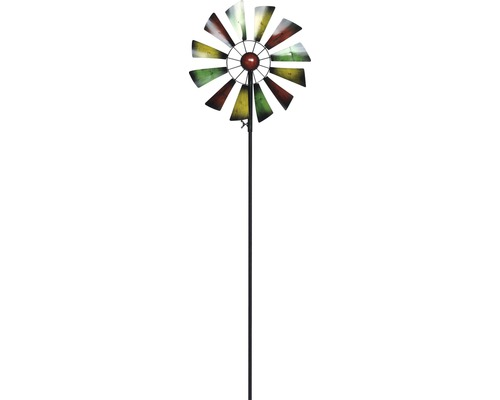 Windrad Metall H 126 cm gelb-grün-rot