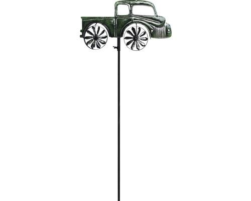 Windrad Frachtauto Metall H 130,5 cm grün