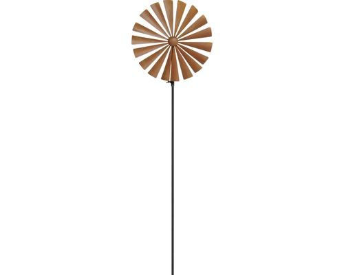Windrad Metall H 130 cm braun