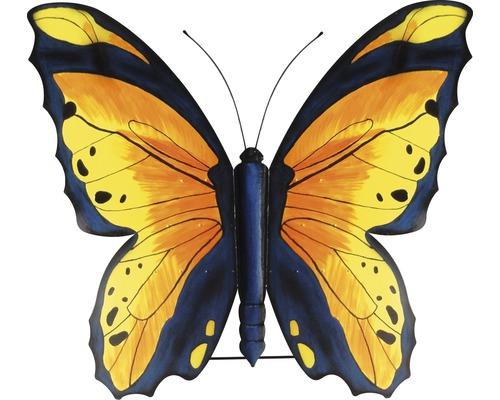 Gartenfigur Schmetterling Metall H 147 cm gelb-schwarz