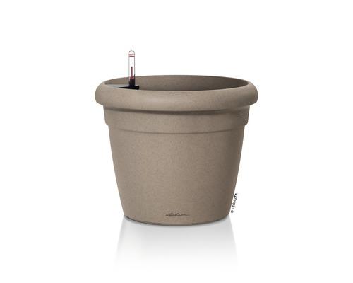 Blumentopf Lechuza Rustico Color Kunststoff Ø 35 H 32 cm beige inkl. Erdbewässerungsystem