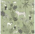 Vliestapete 531817 Dschungel grün