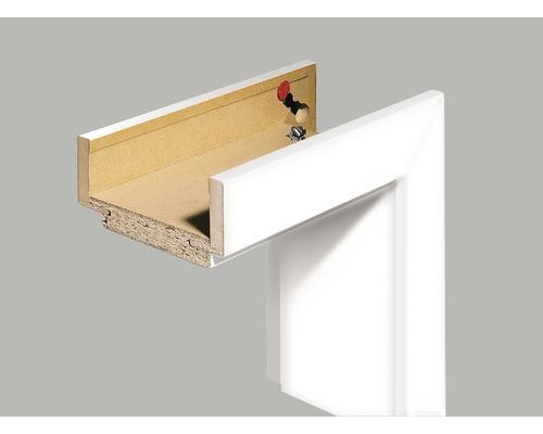 Komplettzarge Pertura CPL Design weiß (ähnlich RAL 9003) 198,5x73,5x33,0 cm DIN Links