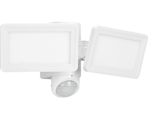 LED Sensor Außenwandleuchte IP44 2x9W 900 lm 4000 K neutralweiß B 322 mm weiß