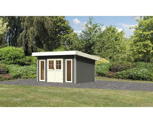 Gartenhaus Karibu Seevetal 1 Classic 369 x 309 cm terragrau