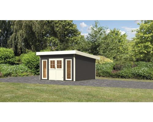 Gartenhaus Karibu Seevetal 2 Classic 369 x 369 cm terragrau