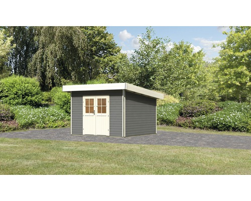 Gartenhaus Karibu Moosburg 2 Classic 309 x 259 cm terragrau