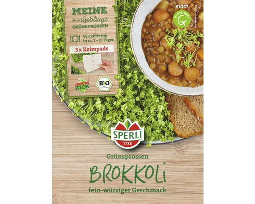 Brokkoli Keimpads Sperli Bio Grünsprossen 3 Stk