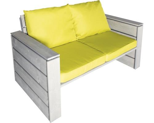 Loungesofa Style Holz 2-Sitzer braun