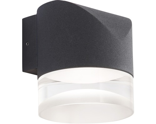 AEG LED Außenwandleuchte IP54 8W 720 lm 3000 K warmweiß Daile anthrazit 90x80 mm