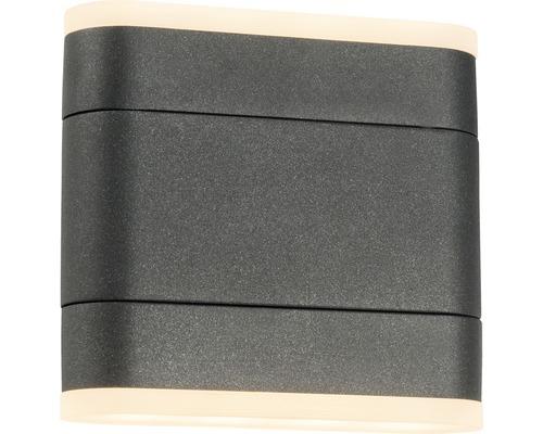 AEG LED Außenwandleuchte IP54 2x4,5W 450 lm 3000 K warmweiß Corri anthrazit 130x140 mm drehbar