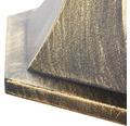 Außenpodestleuchte IP44 1-flammig HxBxL 440x180x180 mm Janel schwarz gold