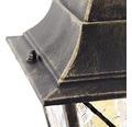 Außenstehleuchte IP44 1-flammig HxBxL 1120x195x195 mm Janel schwarz gold