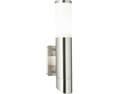 Außenwandleuchte IP44 2-flammig H 335 mm Ellary up/down edelstahl/weiß