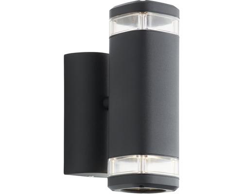 Außenwandleuchte IP44 2-flammig H 210 mm Jandy up/down schwarz