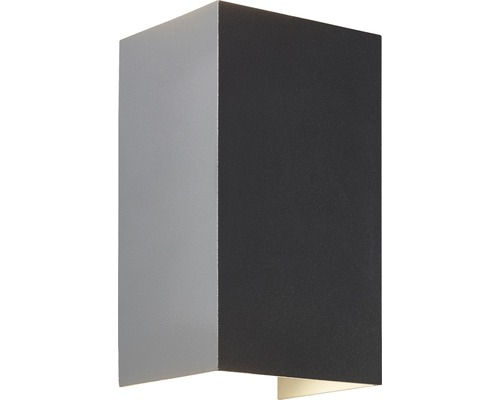 LED Außenwandleuchte IP44 2x3W 2x610 lm 3000 K warmweiß H 136 mm Hilly up/down anthrazit/grau