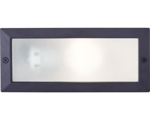 Außen-Einbauleuchte IP44 1-flammig B 235 mm Flossy schwarz